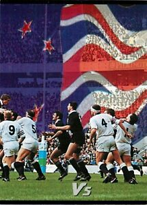 ✺New✺ 1995 NEW ZEALAND ALL BLACKS World Cup Card VS ENGLAND Card 2 of 3