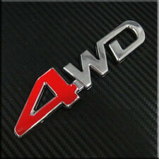 Car Red 4 4x4 4WD 4 wheel drive for SUV Trunk  Badge  Emblem