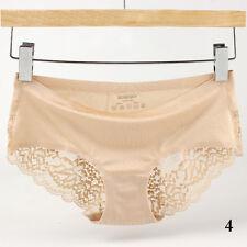 Women Sexy Lace Panties Lingerie Soft Silk Satin Underwear Briefs