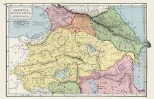 MAP ALBANIE Arménie Large Wall Art Imprimé Poster Photo LF2574