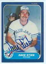 Dave Stieb signed 1986 Fleer baseball Toronto Blue Jays autograph #70