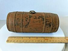18th/19th C. barrel canteen with carved decoration