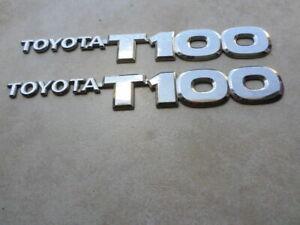 93-98 Toyota T100 Chrome Door Fender 75427-34010 Nameplate Emblem Set of 2 Logos