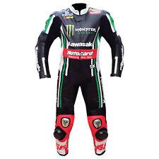 Hommes Combinaison de Moto en Cuir Courses MOTOGP Moto en Cuir Veste Pantalon 50