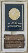 Franklin Mint Star Trek Next Generation 10th Anniversary Commemorative Medal