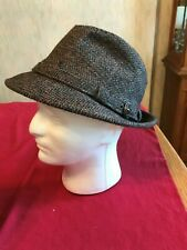 Vintage Kangol 100% Wool Trilby Hat - Made in the Usa - Size Large - Dark Brown