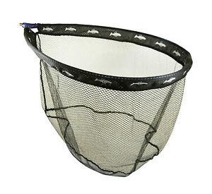 Dinsmores Carp Match Rigid Oval Blue Anodised Black Mesh Landing Net 24in (60cm)