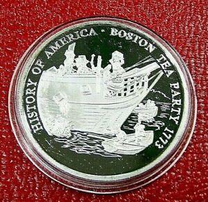 Boston Tea Party Round 20 Gram.999 Silver Round- History of America