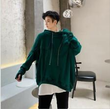Mens design Irregularity Stitching Bat Sleeve Pullover Hoodie Sweater Loose Fit