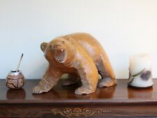 1950s Hand Carved Japanese Bear Sculpture
