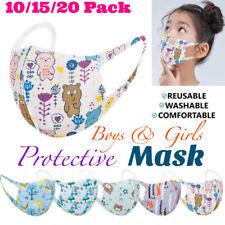 5/10/15/20PCS KIDS Washable Reusable Mix Colors Cartoon Characters Face Mask