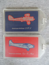 NEW AMERICAN AIRLINES LUGGAGE TAGS 2-PACK SET - PLANE CLASSICS - NAME BAG ID