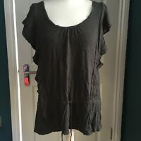 american eagle outfitters size Large dark grey frilled tunic top