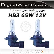 2 BOMBILLAS HALOGENAS HB3 9005 65W 12V COCHE LUCES REPUESTO.ENVIO 24H GRATIS