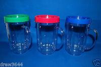 3X Set Lot of Magic Bullet Party Mugs Cups w Colored Lip Ring GENUINE ORIGINAL