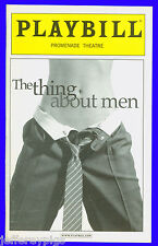 Playbill + The Thing About Men + Marc Kudish , Daniel Reichard , Jennifer Simard