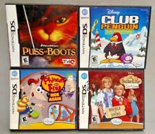 Disney Game Lot Club Penguin Puss Boots Ferb Cody Nintendo DS DS Lite 3DS 2DS