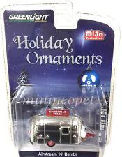 GREENLIGHT 51078 AIRSTREAM 16' BAMBI 1/64 CHRISTMAS HOLIDAY ORNAMENT CHROME