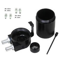 Black Oil Tank Baffled Universal Aluminum Oil Catch Tank Can Reservoir Tank
