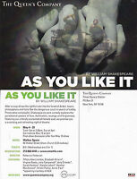 AS YOU LIKE IT - A PLAY BY WILLIAM SHAKESPEARE ADVERTISING COLOUR POSTCARD