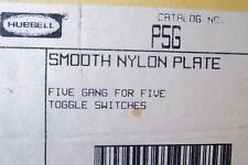 Hubbell P5G 5 gang 5 toggle switch Plate (5pcs)