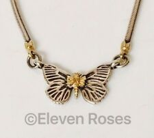 Lagos Caviar Butterfly Pendant Necklace 925 Sterling Silver & 750 18k Gold
