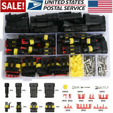 26 Sets 1-4 Pin Way Waterproof Car Auto Electrical Wire Connector Plug Kits Part
