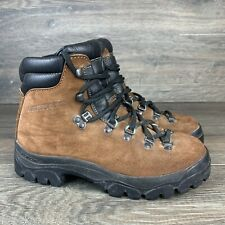 Garmont Women's Brown Leather Hiking Mountaineering Made In Italy Boots Size 7