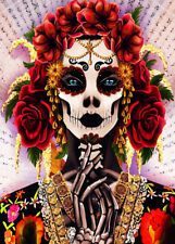500 Pcs Puzzle Rose Mexican Skull Makeup Girl Jigsaw Adult Kid Educational Toys