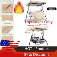 3-Person Replacement Canopy Top Hammock Cover Garden Patio Seater Swing Chair US