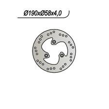 DISCO FRENO NG 665 190/80/58/4//3/9  BENELLI 400 Velvet / Dusk 2003-2004