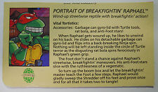 1989 Playmates Teenage Mutant Ninja Turtles Filecard-Breakfightin Raphael