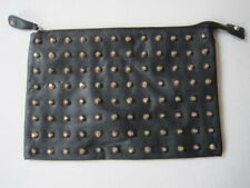 Women's ATMOSPHERE  black faux leather studded clutch bag