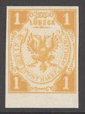 Lübeck Mi. Nr. 7(*) ungebraucht LUXUS Randstück
