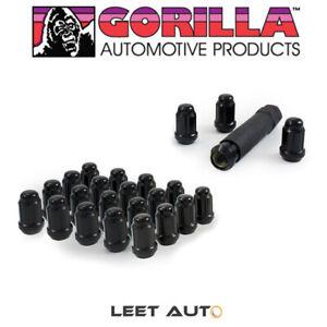 Gorilla (24) Small Diameter Lug Nuts, 12mm x 1.50, Acorn, Black, 12x1.5 21134BC