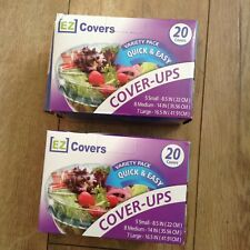 Ez Covers Variety Pack Quick & Easy Food Cover-Ups 20 Covers Each Box(40 Total )