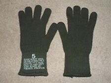 Us Army Military Surplus M-1949 Od Green Wool Glove Inserts Size 5 Large New