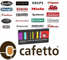 CAFETTO CINO CLEANO CLEANING TABLETS Espresso Coffee Machine Cleaner (16 tablet)