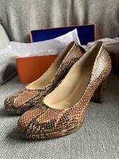 Mary Portas Clarks High Court Shoe Tan Snakeskin Size 6