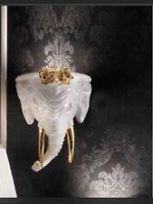 29x40 cm Wandlampe Lampe Lamp Keramik Porzellan Elefant Elephant 24K Gold Italy