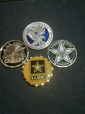 New listing 3 Army challange coins & 1 Armed Force coin