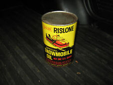 Shaler Rislone Special Snowmobile 1 Quart Unopened Oil Can