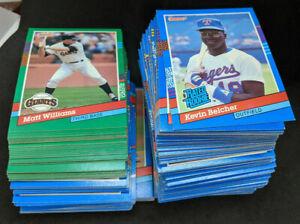 BIG STACK OF 1991 Donruss Baseball Trading Cards NEAR MINT. SERIES 1 & 2 Vintage