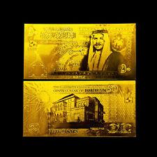 JORDAN BANKNOTE 50 DINARS 2002-2009 REPLICA GOLD 24K