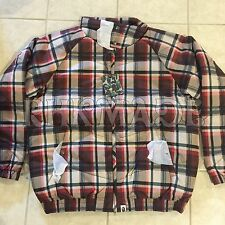 A BATHING APE Bape RED PLAID JACKET COAT BBC ICE CREAM MILO