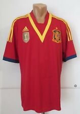 SPAIN 2013/2014 HOME FOOTBALL SHIRT SOCCER JERSEY CAMISETA MAGLIA ADIDAS RED XL