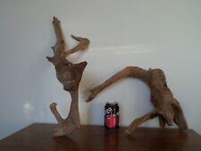 Driftwood Pieces, x2 heavy branching. viv, craft or vivarium bogwood natural
