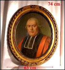 Portrait au Pastel de René Joubert Pallières de Laize Magistrat à Caen XVIIIe