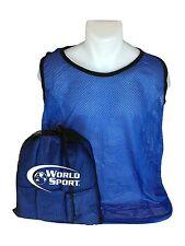 12 Pack Adult blue Blank Scrimmage Vests pinnies bibs soccer football lacrosse