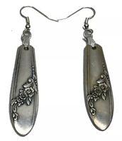 VINTAGE ONEIDA SPOON/ FORK Earrings Queen Bess Pattern Silverware Jewelry